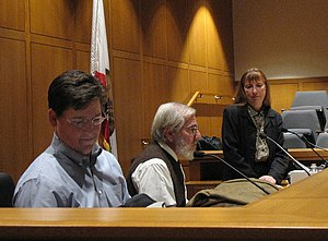 Mock trial - Attorney evaluators give critique at the end of a mock trial competition.