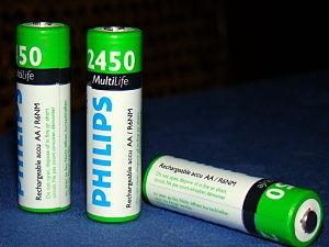 Modern day AA NiMH rechargeable battery