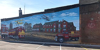 Monett, Missouri - History of Monett in a mural downtown