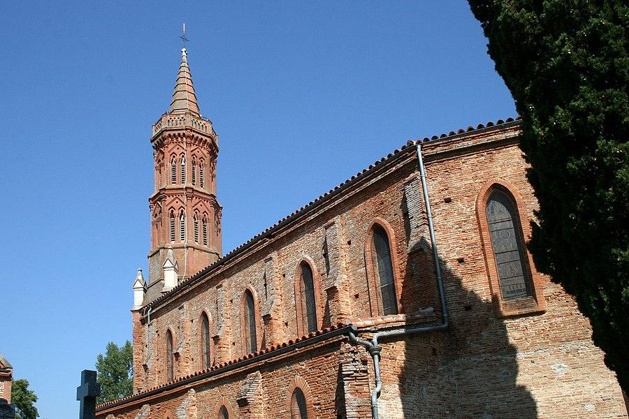 Église Saint Michel de Montbrun-Lauragais, vue du sud-est
