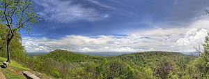 Monte Sano State Park - Overlook view in the spring
