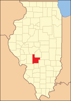 Montgomery County, Illinois - Image: Montgomery County Illinois 1839