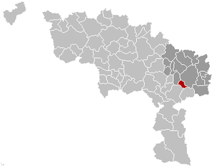 Montigny-le-Tilleul - Image: Montigny le Tilleul Hainaut Belgium Map