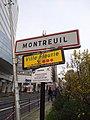 Montreuil (Seine-Saint-Denis) - Panneau entrée RN302 (déc 2018).jpg