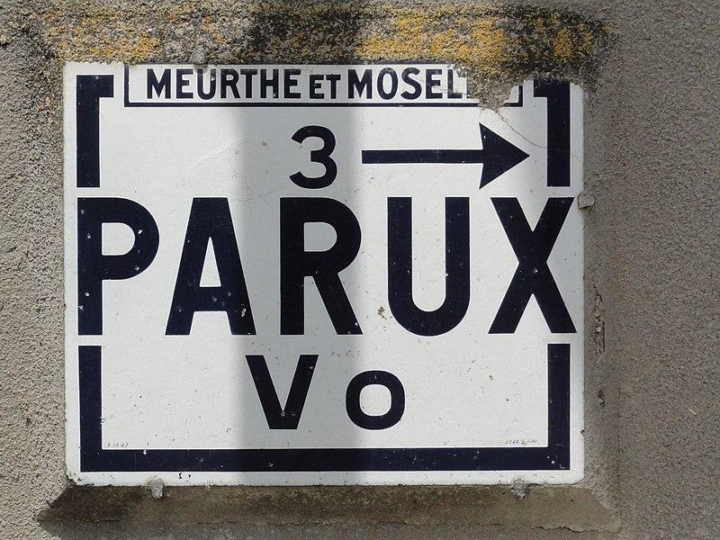 Montreux (M-et-M) Meurthe-et-Moselle road sign