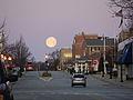 Moon setting over Pennsylvania Avenue, Glen Ellyn, Illinois.jpg
