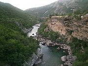 Το Φαράγγι στον Ποταμό Μόρατσα.
