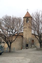 The church in Moriez