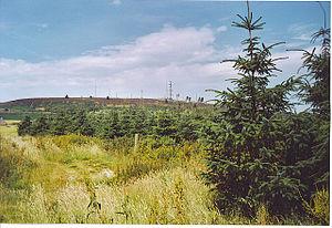 Mormond Hill - Mormond Hill and its antennae