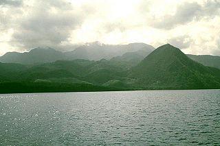 Morne Diablotins Mountain in Dominica in the Lesser Antilles