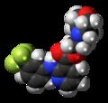 Morniflumate molecule spacefill.png