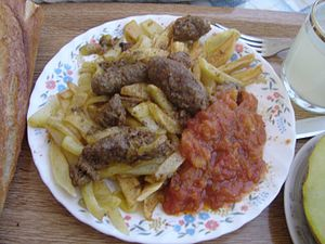 Moroccan made kefta (kebab) from the city of T...