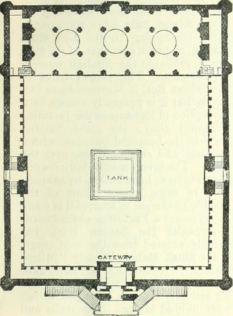 Moti Masjid Agra Fort India plan