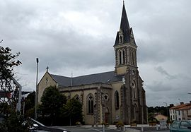 The church of Saint-Martin of Tours, in Mouilleron