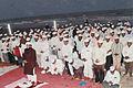 Moulana Ghousavi Shah praying Namaz at sea shore in Machilipatnam.jpg