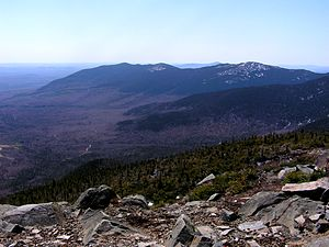 Mount Abraham (Maine) - Mount Abraham viewed from the north, at the top of nearby Sugarloaf Mountain