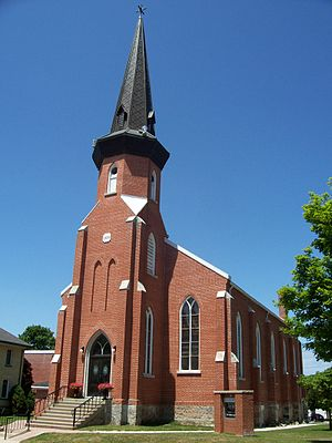 Mount Forest, Ontario - The Mount Forest United Church was built in 1873.