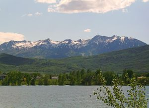 Pineview Dam - Mount Ogden with Pineview Reservoir in the foreground