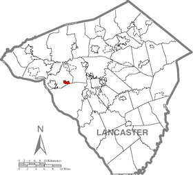 Mountville, Lancaster County Highlighted.png