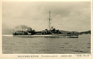 French destroyer Mousqueton - Image: Mousqueton 105