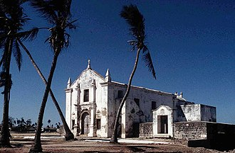 Colonial architecture - Church of Santo António;   b. 1498, Mozambique
