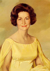 Official White House portrait of Lady Bird Johnson painted in 1968 by Elizabeth Shoumatoff