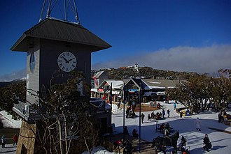 Mount Buller, Victoria - A view over the main part of the village.