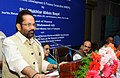 Mukhtar Abbas Naqvi addressing the gathering at the inauguration of the Annual Conference of State Channelising Agency (SCAs) of National Minority Development and Finance Corporation (NMDFC), in Hyderabad.jpg