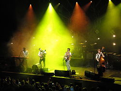 Mumford & Sons performing at Brighton Dome in October 2010 8.JPG