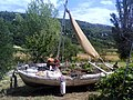 Mundanije , My old boat ended up being a big flowerpot - panoramio.jpg