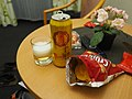 Muraeur beer and snacks at a hotel room in Klagenfurt.jpg