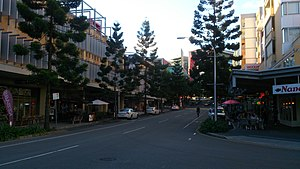 Kelvin Grove Urban Village - Musk Avenue, viewed from the intersection with Carraway Street.