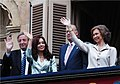 Néstor y Cristina Kirchner con los Reyes de España 02.jpg