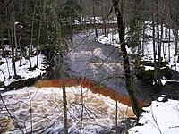 Nõmmeveski waterfall in winter.jpg