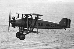 Naval Aircraft Factory TS - Image: NAF Curtiss TS 1 in flight in the 1920s