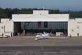 NASA 872 Global Hawk at Wallops Flight Facility hangar.jpg