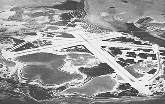 Naval Air Station Key West - Aerial view of NAS Key West in the 1940s