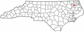 Hertford, North Carolina - Image: NC Map doton Hertford