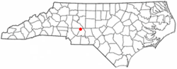 Location of Richfield, North Carolina