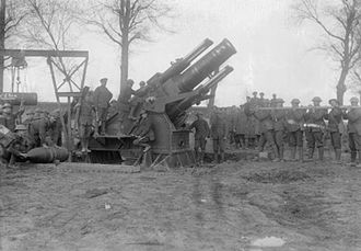 Coventry Ordnance Works - 15 inch howitzer Dainville 10 April 1917