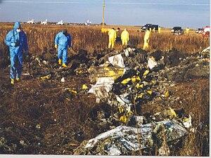 1999 South Dakota Learjet crash - Crash scene (from NTSB presentation)