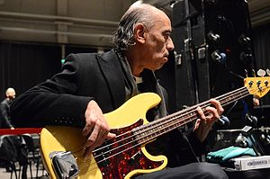 Celebrate the Bullet - Norman Watt-Roy (pictured in 2014) played bass on two tracks during the band's personnel change.