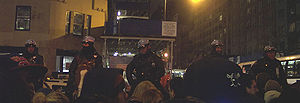 Organization of the New York City Police Department - NYPD Mounted Unit officers patrol on horseback (New Year's Eve 2005/06)