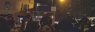 NYPD patrol mounted on horseback (New Year's Eve 2005/06)