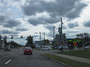 New York State Route 277 - NY 277 at the junction with NY 16 in West Seneca