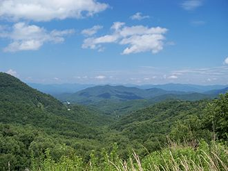 Nantahala, North Carolina - View from US highway 64 just west of Franklin. Part of the Nantahala National Forest in the Appalachian Mountains.