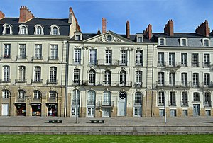 Nantes - Typical 18th-century façades in Nantes