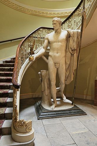 Wellington Collection - Apsley House London, Napoleon as Mars the Peacemaker statue by the Italian artist Antonio Canova of Napoleon I of France