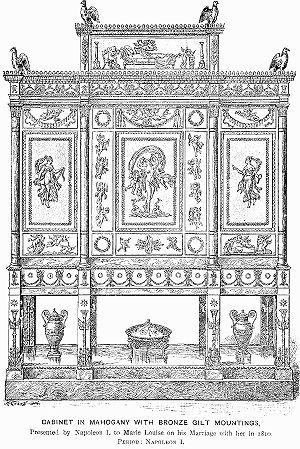 François-Honoré-Georges Jacob-Desmalter - Jewel-cabinet, 1809 (Musée du Louvre)