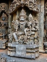 Narasimha avatar of Vishnu with Narasimhi, 13th century Keshava temple Somanathpur.jpg